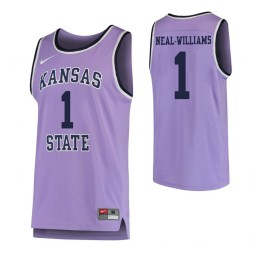 Kansas State Wildcats #1 Shaun Neal-Williams Authentic College Basketball Jersey Purple