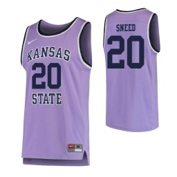 Kansas State Wildcats #20 Xavier Sneed Authentic College Basketball Jersey Purple