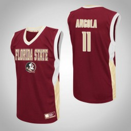 Florida State Seminoles #11 Braian Angola Fadeaway Authentic College Basketball Jersey Red