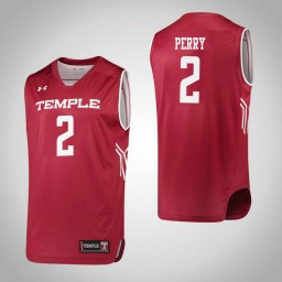 Temple Owls #2 Breanna Perry Authentic College Basketball Jersey Red
