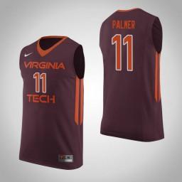 Women's Virginia Tech Hokies #11 Brendan Palmer Authentic College Basketball Jersey Maroon