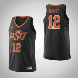 Women's Oklahoma St Cowboys #12 Cameron McGriff Authentic College Basketball Jersey Black