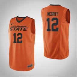 Women's Oklahoma St Cowboys #12 Cameron McGriff Authentic College Basketball Jersey Orange