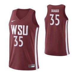Washington State Cougars #35 Carter Skaggs Home Authentic College Basketball Jersey Crimson