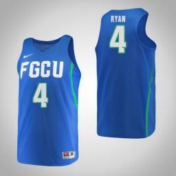 Women's Florida Gulf Coast Eagles #4 Chandler Ryan Authentic College Basketball Jersey Blue