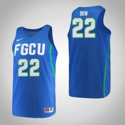 Women's Florida Gulf Coast Eagles #22 China Dow Authentic College Basketball Jersey Blue