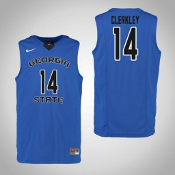 Youth Georgia State Panthers #14 Chris Clerkley Authentic College Basketball Jersey Blue