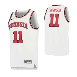 Women's Georgia Bulldogs #11 Christian Harrison Retro Performance Authentic College Basketball Jersey White