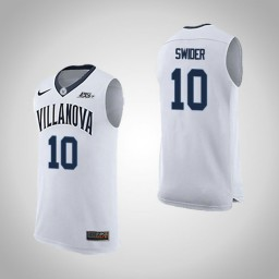 Youth Villanova Wildcats #10 Cole Swider Road Authentic College Basketball Jersey White