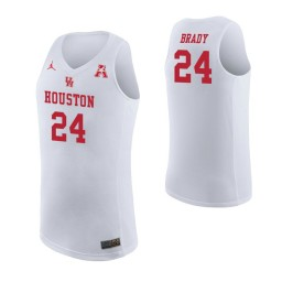 Youth Houston Cougars #24 Breaon Brady Authentic College Basketball Jersey White