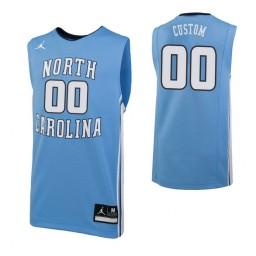 North Carolina Tar Heels Custom College Basketball Replica Jersey Carolina Blue
