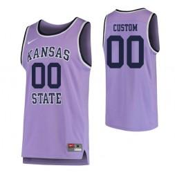 Kansas State Wildcats Custom College Basketball Replica Jersey Purple
