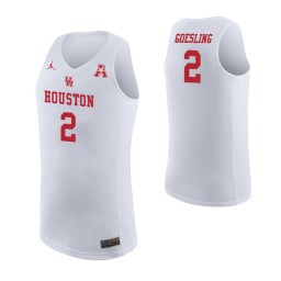 Youth Houston Cougars #2 Landon Goesling Authentic College Basketball Jersey White