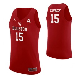 Youth Houston Cougars #15 Neil VanBeck Authentic College Basketball Jersey Red