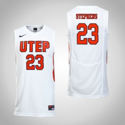 Women's UTEP Miners #23 Corbin Stephens Authentic College Basketball Jersey White