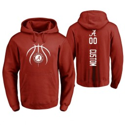 Men's Alabama Crimson Tide #00 Custom College Basketball Personalized Backer Hoodie Crimson