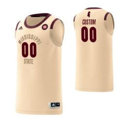 Men's Kansas Jayhawks #00 Custom College Basketball Harlem Renaissance Jersey Cream