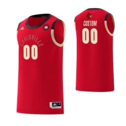Men's Louisville Cardinals #00 Custom College Basketball Harlem Renaissance Jersey Red