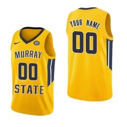 Replica Murray State Racers Custom College Basketball Jersey Yellow