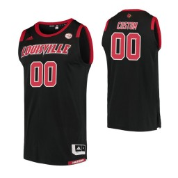 Men's Louisville Cardinals #00 Custom College Basketball Replica Jersey Black
