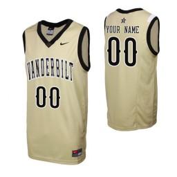 Replica Vanderbilt Commodores Custom College Basketball Jersey Gold