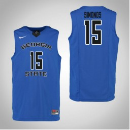 Youth Georgia State Panthers #15 D'Marcus Simonds Authentic College Basketball Jersey Blue