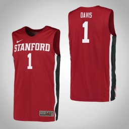 Women's Stanford Cardinal #1 Daejon Davis Authentic College Basketball Jersey Red