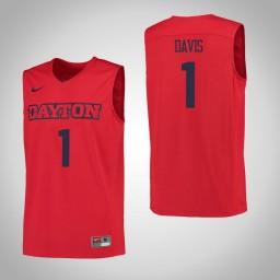 Dayton Flyers #1 Darrell Davis Authentic College Basketball Jersey Red