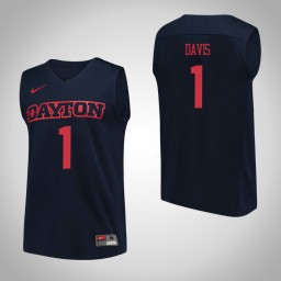 Dayton Flyers #1 Darrell Davis Performance Authentic College Basketball Jersey Navy
