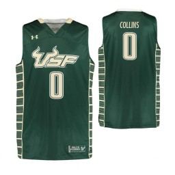 South Florida Bulls #0 David Collins Authentic College Basketball Jersey Green