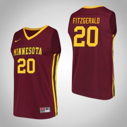 Minnesota Golden Gophers #20 Davonte Fitzgerald Performance Authentic College Basketball Jersey Maroon