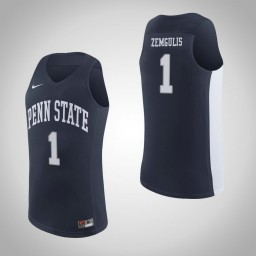 Penn State Nittany Lions #1 Deivis Zemgulis Authentic College Basketball Jersey Navy