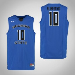 Youth Georgia State Panthers #10 Denis Alibegovic Authentic College Basketball Jersey Blue