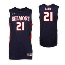 Youth Belmont Bruins #21 Derek Sabin Authentic College Basketball Jersey Navy