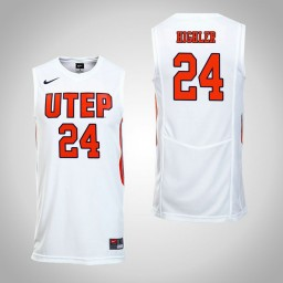 Women's UTEP Miners #24 Deshaun Highler Authentic College Basketball Jersey White