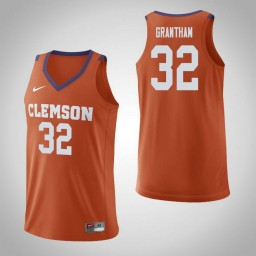 Youth Clemson Tigers #32 Donte Grantham Authentic College Basketball Jersey Orange