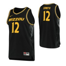 Youth Missouri Tigers #12 Dru Smith Authentic College Basketball Jersey Black