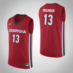 Women's Georgia Bulldogs #13 E'Torrion Wilridge Authentic College Basketball Jersey Red