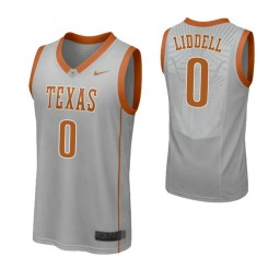 Youth Texas Longhorns #0 Gerald Liddell Authentic College Basketball Jersey Gray