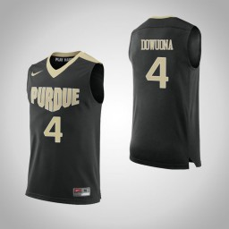 Purdue Boilermakers #4 Emmanuel Dowuona Authentic College Basketball Jersey Black