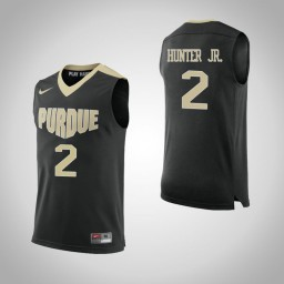 Purdue Boilermakers #2 Eric Hunter Jr. Authentic College Basketball Jersey Black