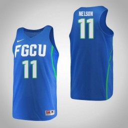 Women's Florida Gulf Coast Eagles #11 Erica Nelson Authentic College Basketball Jersey Blue