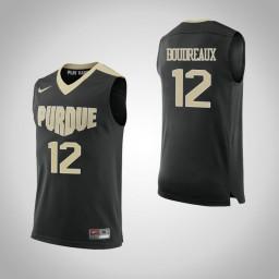 Purdue Boilermakers #12 Evan Boudreaux Authentic College Basketball Jersey Black