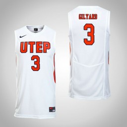 Women's UTEP Miners #3 Evan Gilyard Authentic College Basketball Jersey White