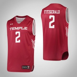 Temple Owls #2 Feyonda Fitzgerald Authentic College Basketball Jersey Red