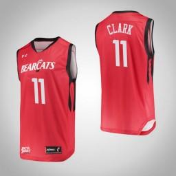 Cincinnati Bearcats #11 Gary Clark Authentic College Basketball Jersey Red