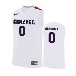 Gonzaga Bulldogs #0 Geno Crandall Road Authentic College Basketball Jersey White