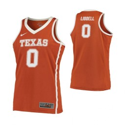 Youth Texas Longhorns #0 Gerald Liddell Road Authentic College Basketball Jersey Orange