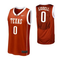 Youth Texas Longhorns #0 Gerald Liddell Authentic College Basketball Jersey Burnt Orange