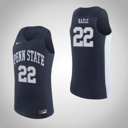 Penn State Nittany Lions #22 Grant Hazle Authentic College Basketball Jersey Navy